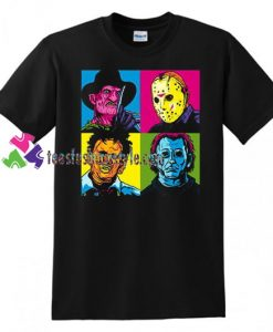 2018 Pop Art Harajuku Tee Horror Halloween T Shirt Jason Freddy Mashup T Shirt gift tees unisex adult cool tee shirts