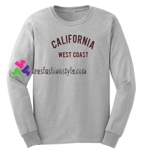 California West Coast Sweatshirt Gift sweater adult unisex cool tee shirts