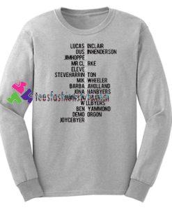 Stranger Things Name New Unisex Sweatshirts Gift sweater adult unisex cool tee shirts