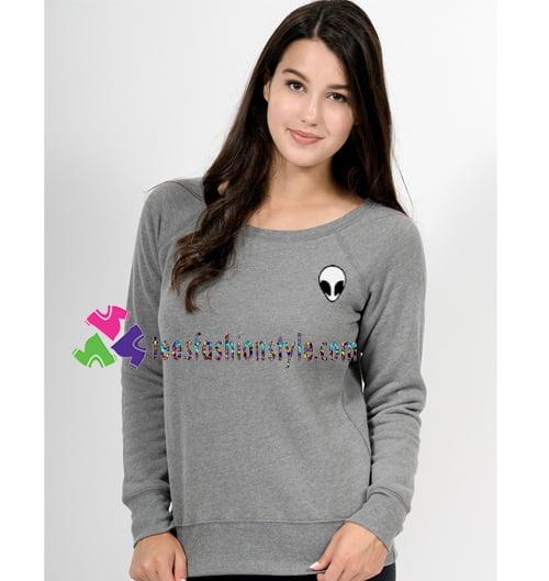 Alien Crop Sweatshirt Gift sweater adult unisex cool tee shirts