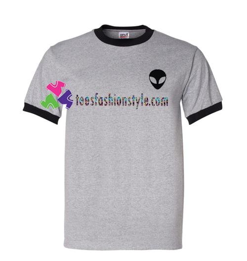 Alien Ringer T Shirt gift tees unisex adult cool tee shirts
