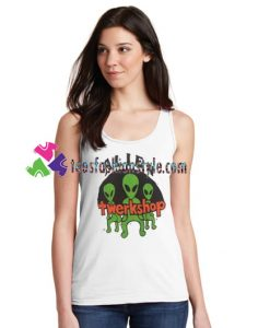 Alien Twerkshop Tanktop gift tanktop shirt unisex custom clothing Size S-3XL