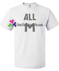 All M T Shirt gift tees unisex adult cool tee shirts
