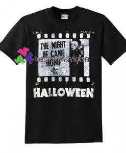 American Classics Big and Tall Halloween The Movie Film Strip T Shirt gift tees unisex adult cool tee shirts