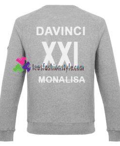 Davinci XXl Monalisa Back Sweatshirt Gift sweater adult unisex cool tee shirts
