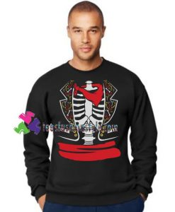 Day of The Dead Halloween Mexican Skeleton Rib Cage Costume Sweatshirt Gift sweater adult unisex cool tee shirts
