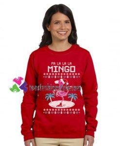 Fa La La Flamingo Ugly Christmas Sweater Funny Sweatshirt Gift sweater adult unisex cool tee shirts