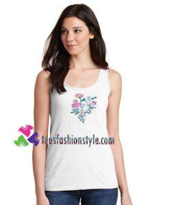 Grunge Flower Tanktop gift tanktop shirt unisex custom clothing Size S-3XL