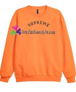 Supreme Font Sweatshirt Gift sweater adult unisex cool tee shirts