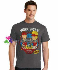 Work Sucks T Shirt gift tees unisex adult cool tee shirts