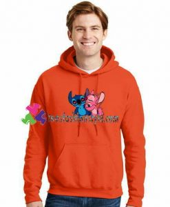 Angel Kiss Stitch Hoodie gift cool tee shirts cool tee shirts for guys