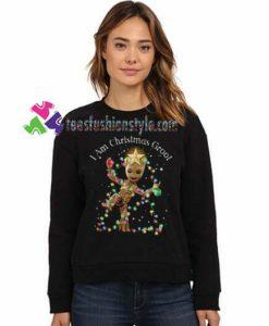 Baby Groot dance I am Christmas Groot Sweatshirt Gift sweater adult unisex cool tee shirts