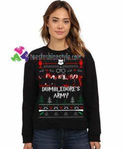 Dumbledore's Army Harry Potter Fan Sweatshirt Christmas Sweatshirt Gift sweater adult unisex cool tee shirts