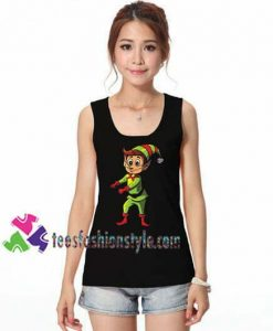 Elf Racerback Tanktop Floss Like a Boss Dance Funny Christmas gift tanktop shirt unisex custom clothing Size S-3XL