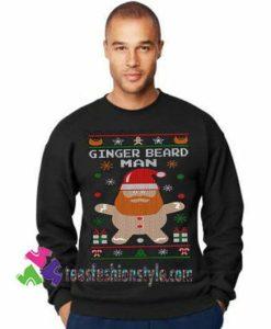 Ginger Beard Man Sweatshirt, Funny Ugly Christmas Sweater Gift sweater adult unisex cool tee shirts
