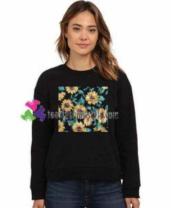 Sun Flowers Print Sweatshirt Gift sweater adult unisex cool tee shirts