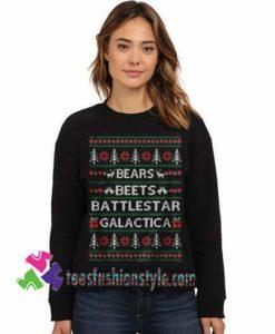The Office tv Show Sweatshirt Christmas Sweater Bears Beets Sweatshirt Gift sweater adult unisex cool tee shirts