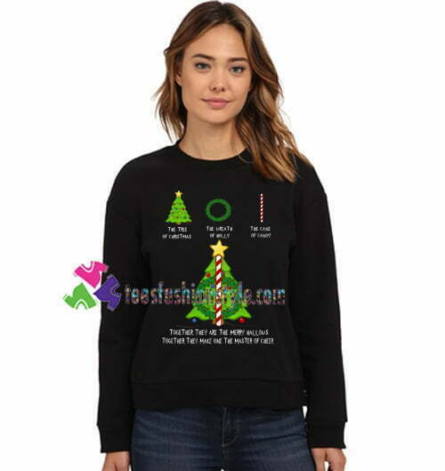 The Tree Of Christmas The Wreath of Holly The Cane Of Candy Sweatshirt Harry Potter Sweatshirt Gift sweater adult unisex cool tee shirts