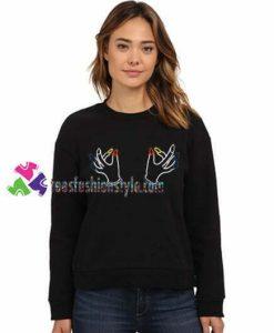 Twin Hand Boobs Sweatshirts Gift sweater adult unisex cool tee shirts