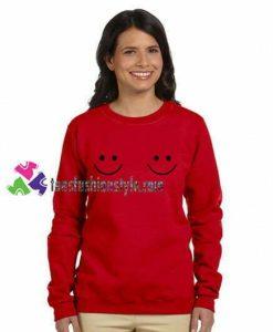 Twin Smile Boobs Sweatshirt Gift sweater adult unisex cool tee shirts