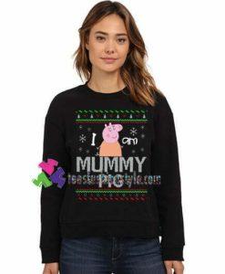 Ugly Christmas Party Sweatshirt, Peppa Pig Sweatshirt, Mummy Pig Sweatshirt Gift sweater adult unisex cool tee shirts