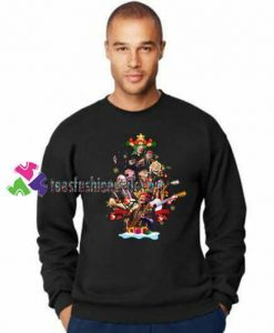 Willie Nelson Christmas Tree Sweatshirt Gift sweater adult unisex cool tee shirts