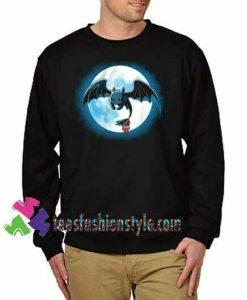 Toothlees night fury Sweatshirt how to train your dragon, Sweatshirt Gift sweater adult unisex cool tee shirts