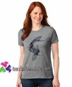 Womens Short Sleeve Tshirt- Koi -American Apparel Raglan Pullover T shirt gift tees unisex adult cool tee shirts