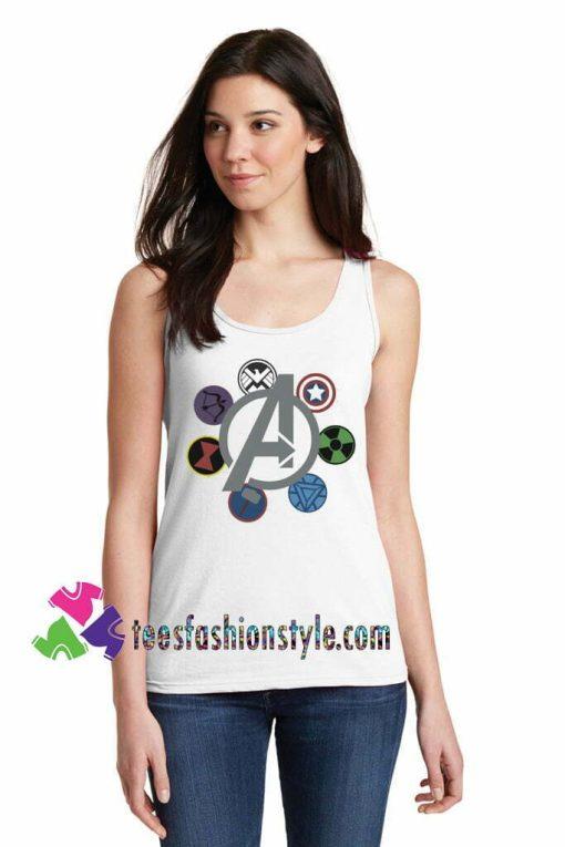 Avengers Emblem Circle racerback, Marvel Comics