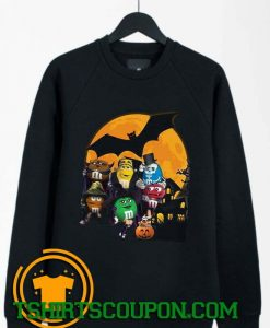 M&M Candy Halloween Pumpkin Bat Sweatshirt By Tshirtscoupon.com
