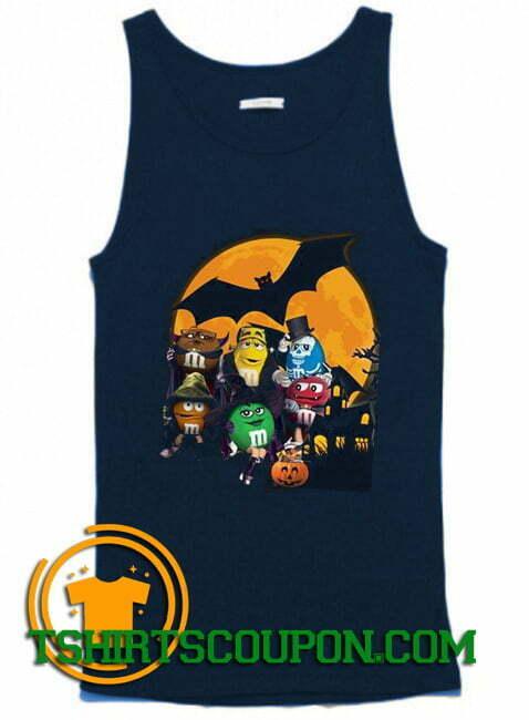 M&M Candy Halloween Pumpkin Bat Tank Top By Tshirtscoupon.com