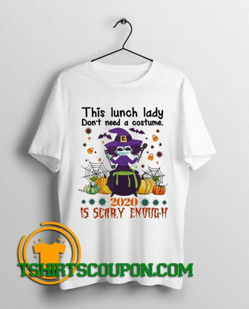 Witch Face Mask This Lunch lady don't need Halloween shirts