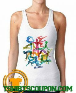 Jersey Top 'Just Breathe' Yoga Meditation
