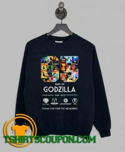 65 years of Godzilla Sweatshirt