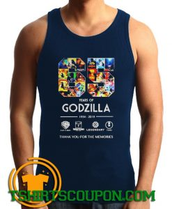 65 years of Godzilla thank you for the memories Tank Top