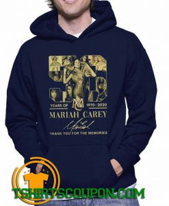 Mariah Carey 1970 2020 signature thank you for the memories Hoodie