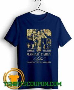 Mariah Carey 1970 2020 signature thank you for the memories T-Shirt