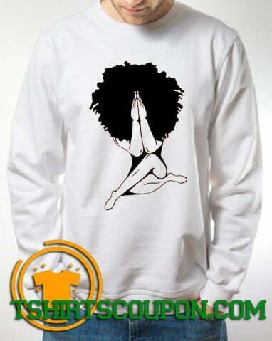 Afro woman praying Sweatshirt For Men and Women S-3XL