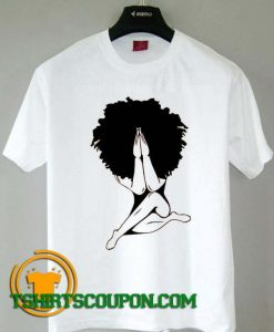 Afro woman praying T-Shirt For Men and Women S-3XL