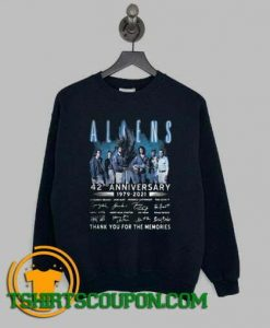 Aliens 42nd Anniversary 1979 2021 Thank You Sweatshirt