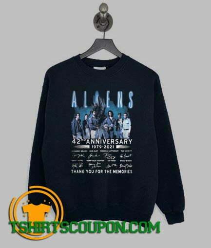 Aliens 42nd Anniversary 1979 2021 Thank You Sweatshirt