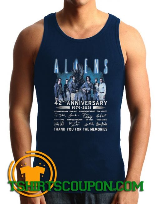 Aliens 42nd Anniversary 1979 2021 Thank You Tank Top