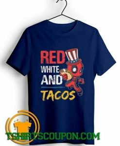 Deadpool Red White And Tacos T-Shirt