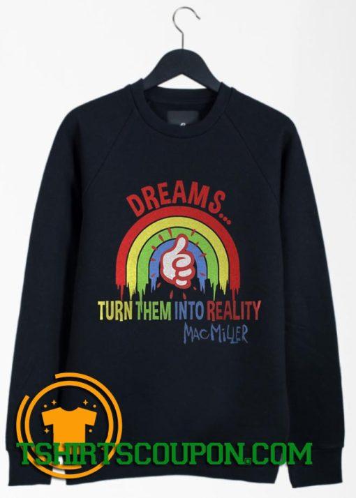 Mac Miller Rapper Dreams Vintage Style Sweatshirt
