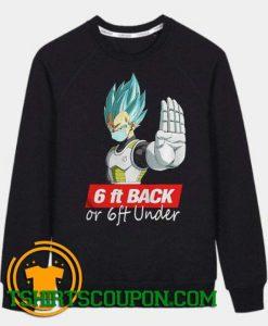 Saga Dragon Ball Super 6Ft Back Sweatshirt