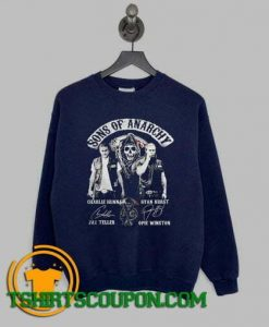 Sons of anarchy characters signatures Sweatshirt By Tshirtscoupon.com