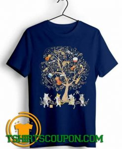 Cats Playing Music Unique trends tees shirts By Tshirtscoupon.com