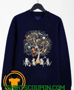 Cats Playing Music Unique trends tees Sweatshirt