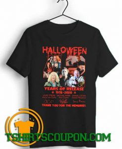 Halloween 42 years of Release trends tees shirts