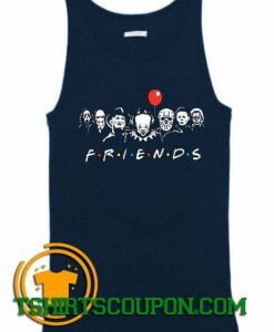 Halloween Horror Movie Killers Scary Friends Tank Top
